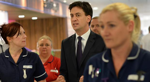 Ed Miliband said Labour would bring in 20,000 additional nurses to ease the burden on accident and emergency departments