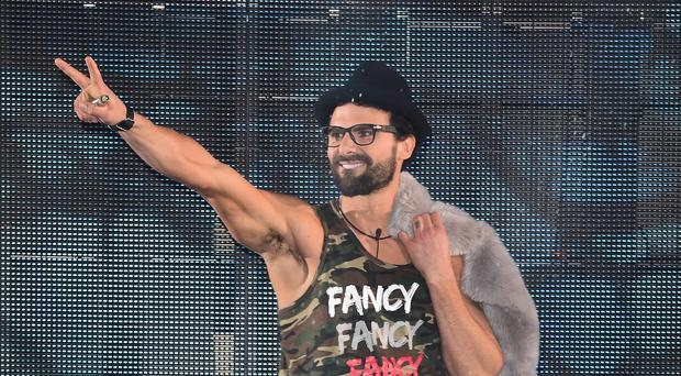 Jeremy Jackson entering the Celebrity Big Brother house - he was removed after just three days