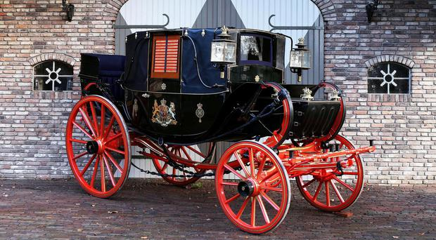 A horse-drawn carriage built for King William IV which is expected to fetch up to £300,000 at auction