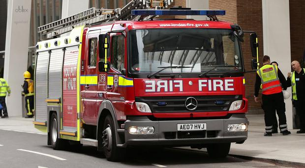 Fire crews were called to the scene in Harrow, north west London
