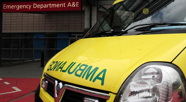 The dead man was left lying on the floor of an ambulance station