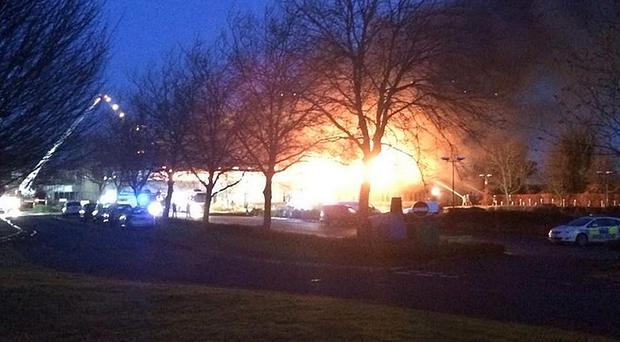 A fire at South Oxfordshire District Council in Crowmarsh Gifford, Oxfordshire. (Picture: Ian Negus)