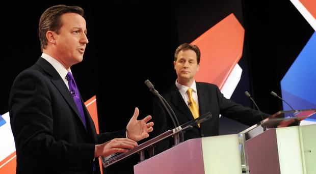 Nick Clegg said David Cameron's objections to the debates was