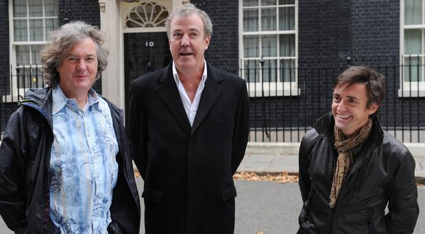 Top Gear presenters (left to right) James May, Jeremy Clarkson and Richard Hammond