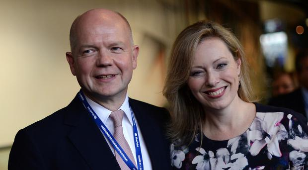William and Ffion Hague plan to live in Wales after he quits the Commons