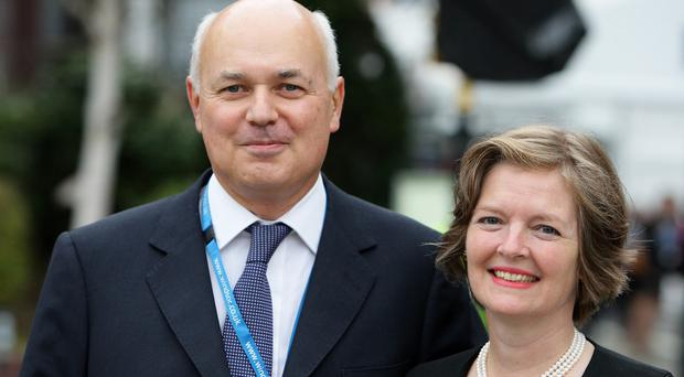 Betsy Duncan Smith, pictured with husband Iain, wants the NHS to use cancer detecting dogs