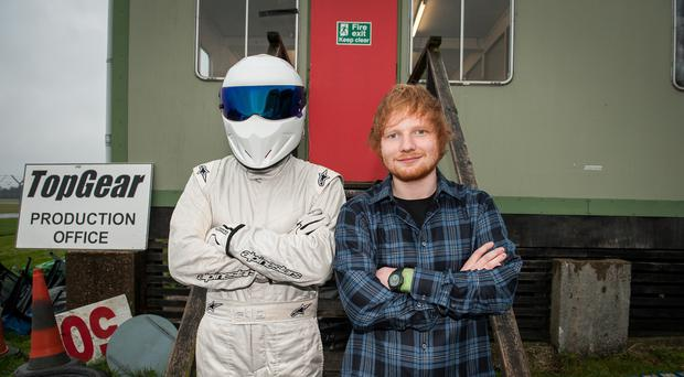 Ed Sheeran and The Stig