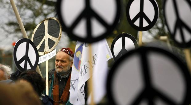 Anti-nuclear campaigners are due to protest against Trident nuclear missiles in central London today.