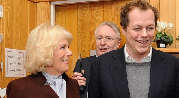 The Duchess of Cornwall with her son Tom Parker-Bowles (PA/file)