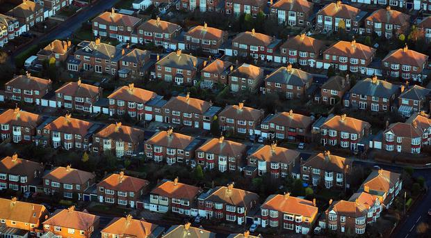 An aerial view of houses in Newcastle as Labour unveiled a package of measures designed to help boost home construction by small building firms.