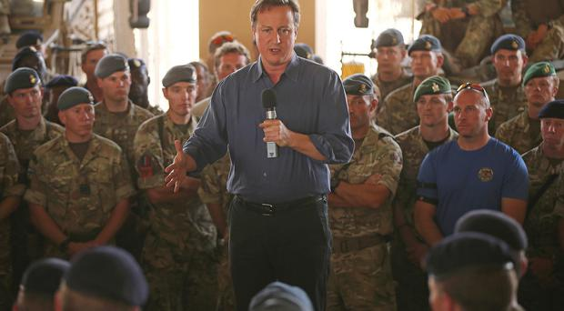 David Cameron said there would be a service of commemoration at St Paul's Cathedral to mark the end of the combat mission in Afghanistan