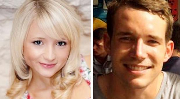 David Miller, 24, and Hannah Witheridge, 23, were found dead on a beach on the Thai island of Koh Tao in September (Foreign and Commonwealth Office/PA Wire)