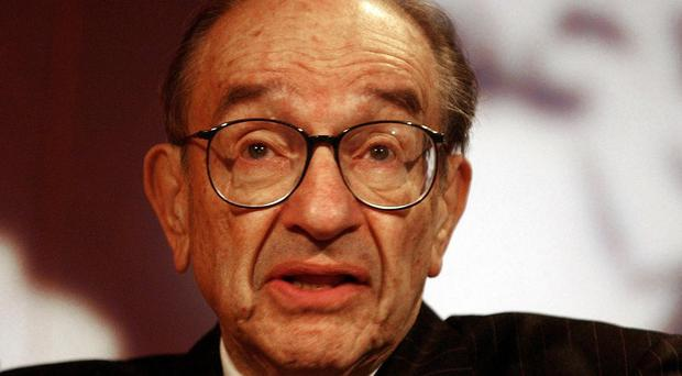 Alan Greenspan said he did not think it helps Greece to be in the euro