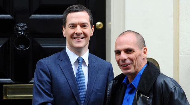 Chancellor George Osborne recently welcomed Greece's new anti-austerity finance minister Yanis Varoufakis to 11 Downing Street