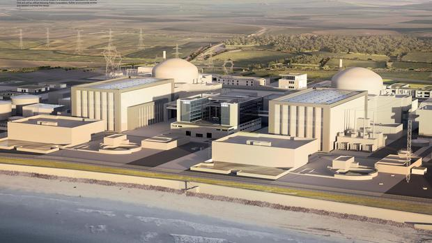 An artist's impression of how the Hinkley Point C power station will look.