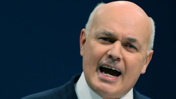 The Conservatives have been vague on where their cuts will fall. Above: Work and Pensions Secretary Iain Duncan Smith