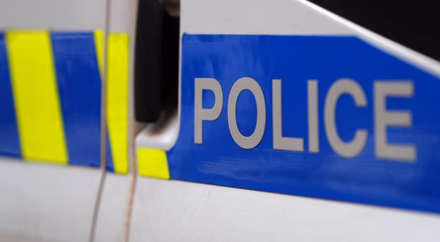 Police have been pelted with missiles after an illegal rave on an industrial estate in Swindon