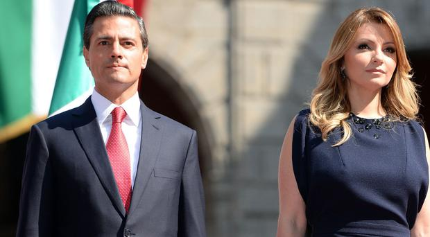 Human rights groups are angry that Mexican president Enrique Pena Nieto and his wife Angelica are staying at Buckingham Palace