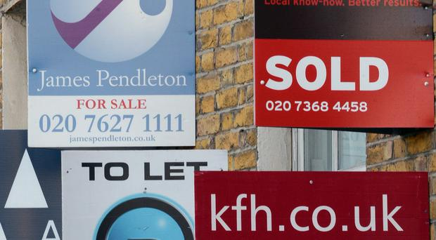 UK property values were 5.7% higher last month than they were a year ago