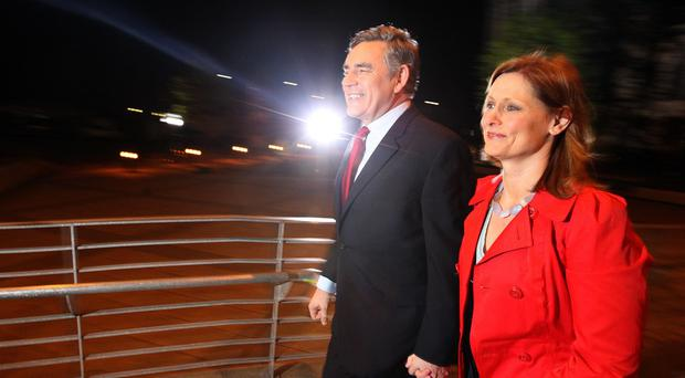 Then prime minister Gordon Brown arriving at the count for his Kirkcaldy and Cowdenbeath seat in 2010