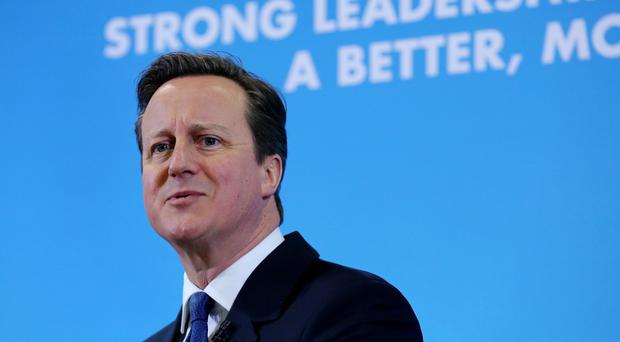 Prime Minister David Cameron has urged voters to keep the UK in safe Tory hands