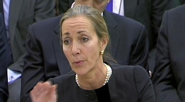 Chair of the BBC Trust and HSBC non-executive director Rona Fairhead gives evidence in front of the Commons Public Accounts Committee