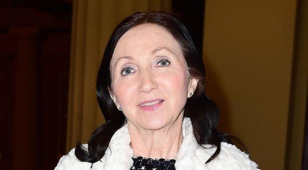 Jane Hawking attending a reception and dinner in support of Motor Neurone Disease Association at Buckingham Palace