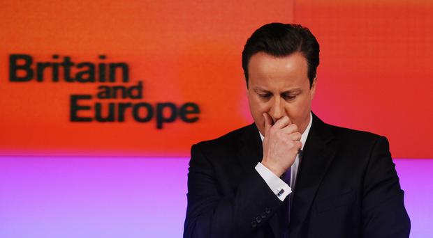 David Cameron said the UK is in danger of