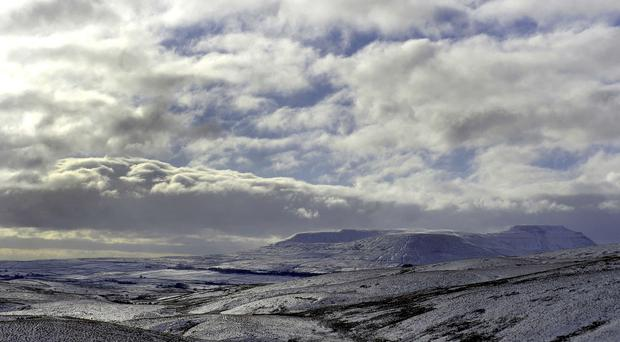 Wintry showers are forecast for higher ground like the Pennines