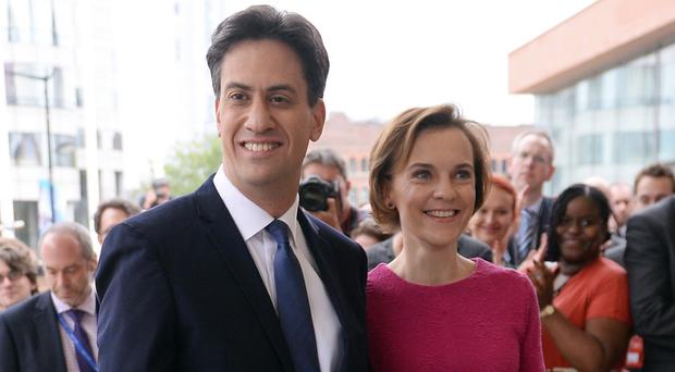 Labour leader Ed Miliband and his wife Justine Thornton