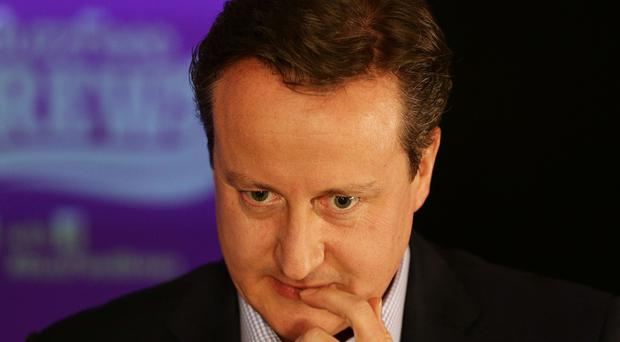 David Cameron said he would be campaigning for a Conservative majority government