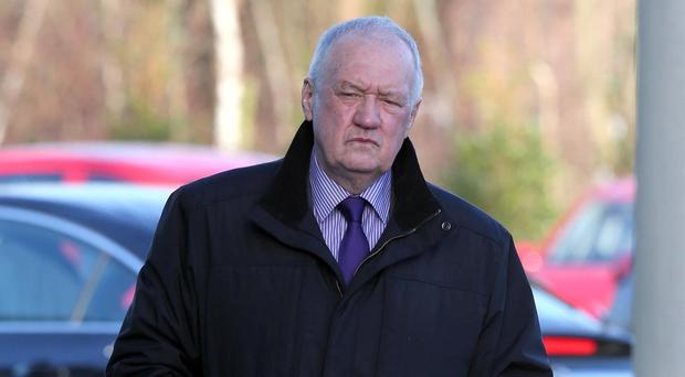 Former chief superintendent David Duckenfield arrives at the Hillsborough inquest in Warrington