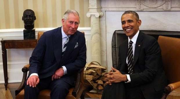 The Prince of Wales meets US president Barack Obama in the Oval Office