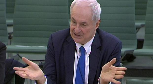 DJ and broadcaster Paul Gambaccini giving evidence to the Home Affairs Committee on police bail