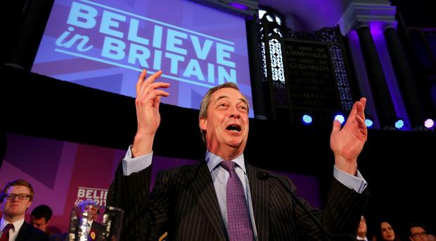A protest against Ukip has been held outside party leader Nigel Farage's local pub in Downe