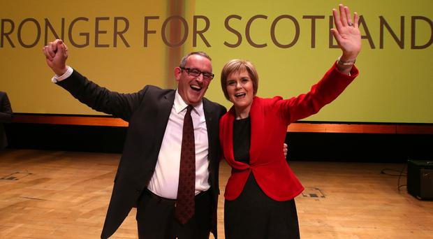 SNP depute leader Stewart Hosie pictured with party leader and First Minister Nicola Sturgeon