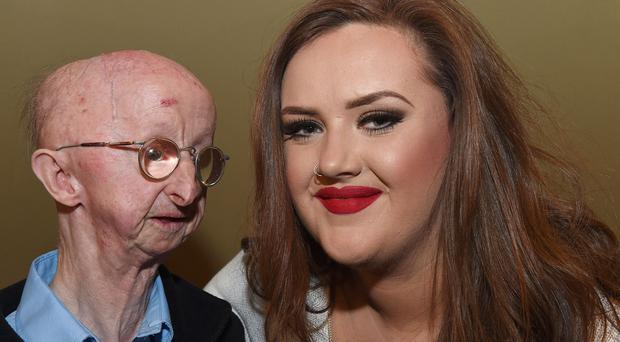 Fundraiser Katie Cutler pictured with Alan Barnes