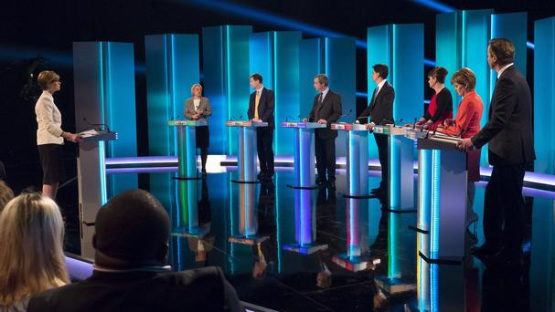The leaders of seven political parties took part in the TV debate (ITV/REX)