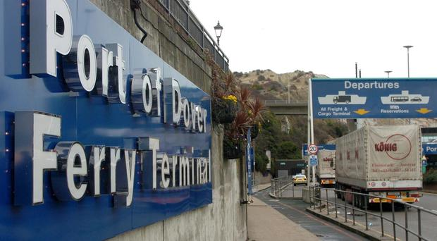 Police arrested the five men and one woman at Dover port