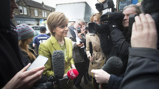 Nicola Sturgeon insisted that reports she wants the Conservatives to win the General Election were categorically untrue