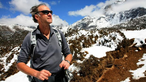 Sir Ranulph Fiennes during a trek to Mount Everest in 2008