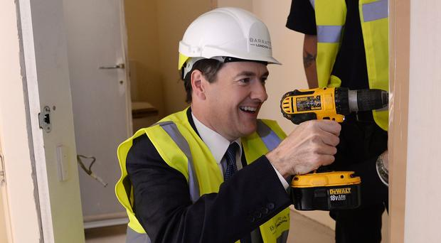 George Osborne visiting a Help to Buy housing development in London