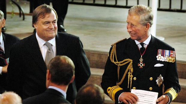 Lord Prescott, left, said that the Prince of Wales has a lot to offer the country