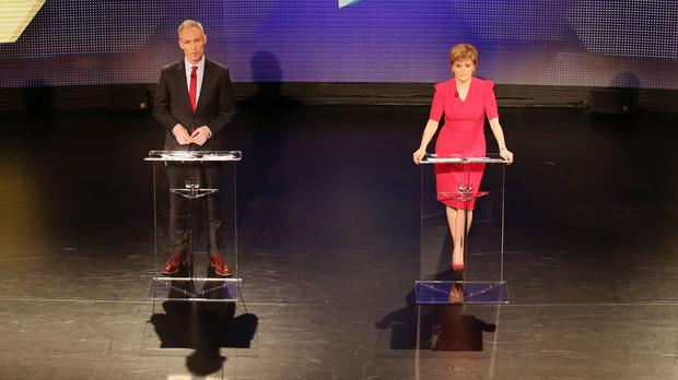 Scottish Labour leader Jim Murphy and First Minister Nicola Sturgeon during the Scotland Debates