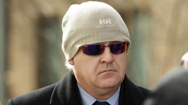 Former army sergeant Edwin Mee arrives at Southwark Crown Court where he is accused of sexually abusing female recruits.