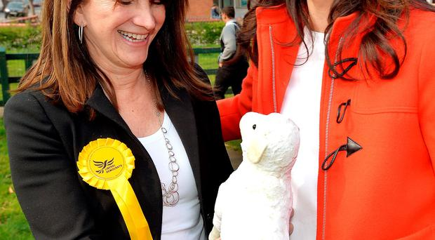 Miriam joined Lib Dem Home Office minister Lynne Featherstone in London yesterday