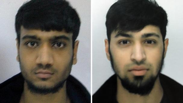 Hassan Munshi (left) and Talha Asmal, both 17, who are believed to have travelled to Syria