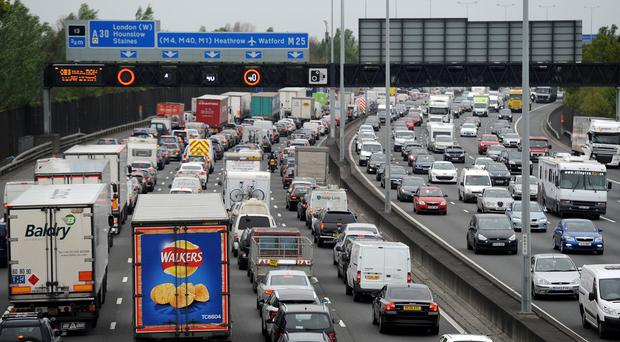 The incident occurred on the M25