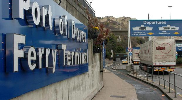 The port of Dover where the suspects were detained last week.