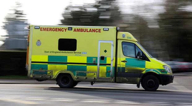 A driver was killed in a crash between a bus and an ambulance